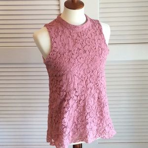 Rose & Olive dusty rose lace top